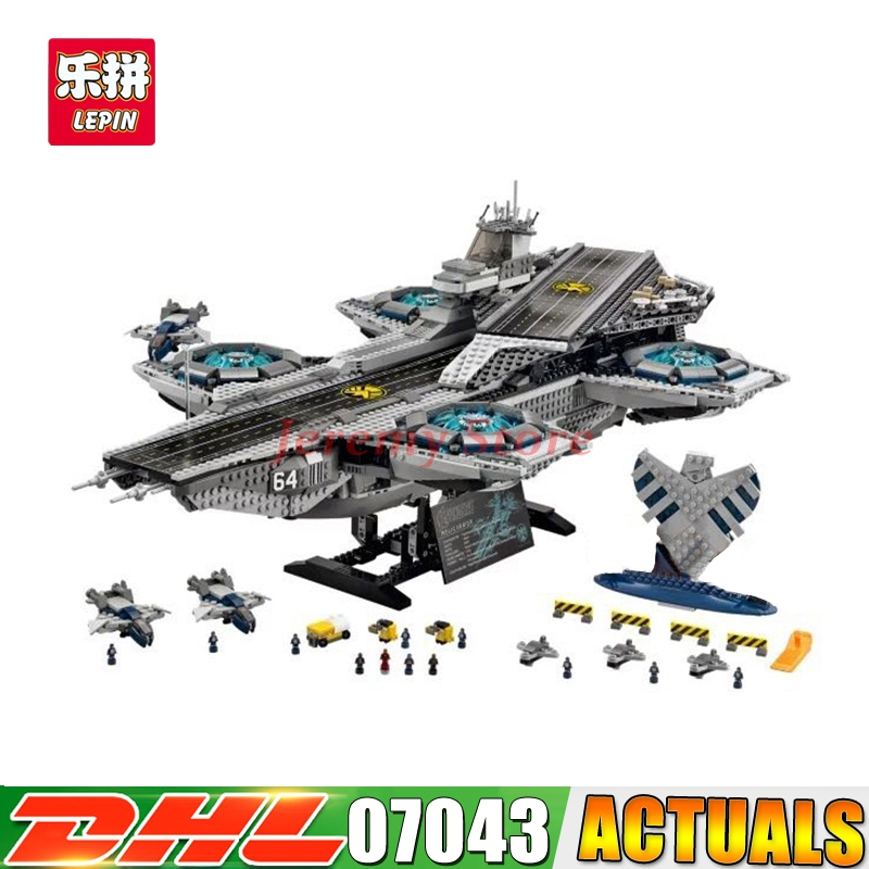 2017 DHL Lepin 3057Pcs 07043 SY911 Super Heroes The SHIELD Helicarrier LEPIN Model Building Kits Blocks Bricks Toys 76042 building blocks super heroes back to the future doc brown and marty mcfly with skateboard wolverine toys for children gift kf197