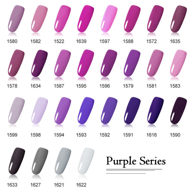 Canni Output Nail Gel Paint Color Uv Nails Kit 141 Pure Purple Neon Soak Off Led Lacquer Design Painting