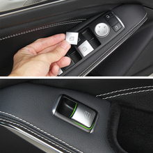 Car Styling For Mercedes Benz C E Class W204 W212 Auto Window Lifter Control Frame Switch Decor Armrest Panel Trim Sticker Cover цены