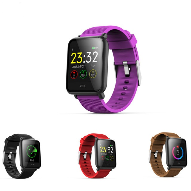 <font><b>smartwatch</b></font> Q9 with heart rate monitor blood pressure smart watch for men women ladies girls support WhatsApp Facebook PK Y1 <font><b>Y2</b></font> image