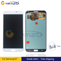 100% Tested Original Super Amoled LCD Screen Touch Digitizer Assembly For Samsung E7 Lcd Display Replacement free gift