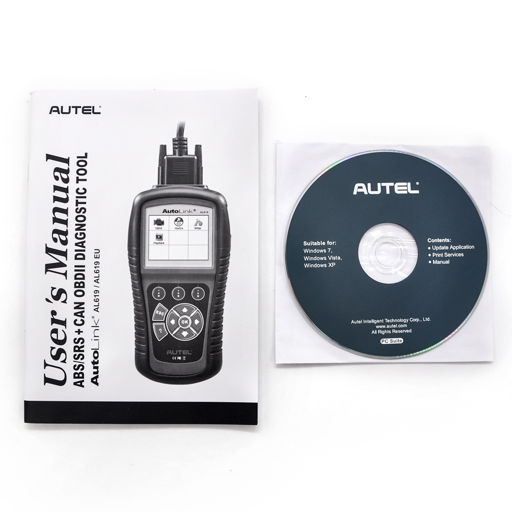Autel AutoLink al619 ABS / SRS OBDII CAN Diagnostic Tool Professional Auto OBDII code reader scanner In stock