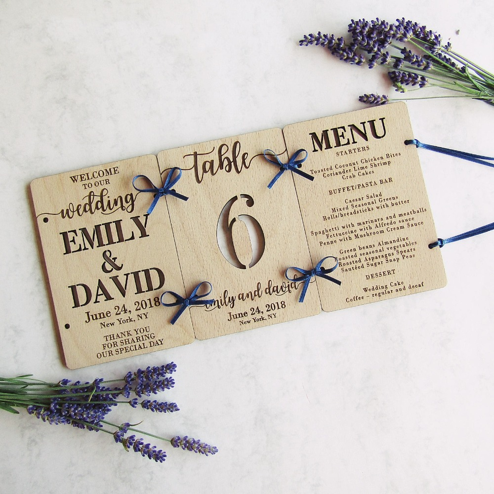 Custom Laser Cut Wood Wedding Table Decoration | Welcome Sign, Table ...