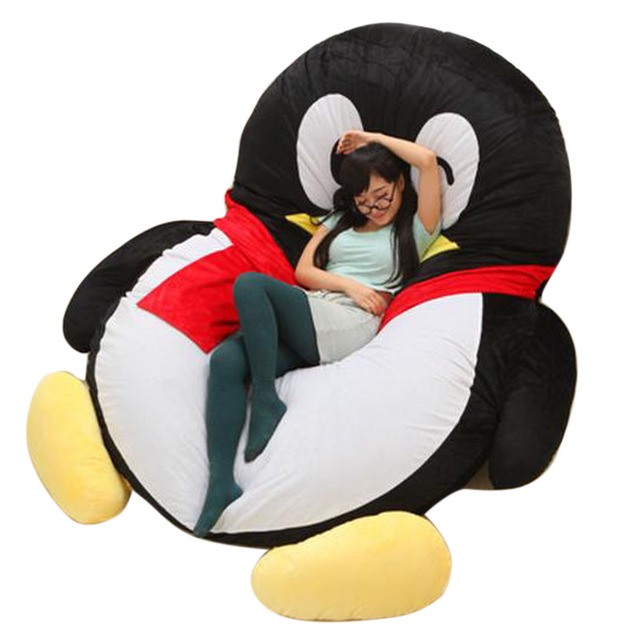 anime bean bag chair patio chairs home depot fancytrader giant qq penguin sofa bed plush cartoon sleeping leisure beanbag tatami great novelty