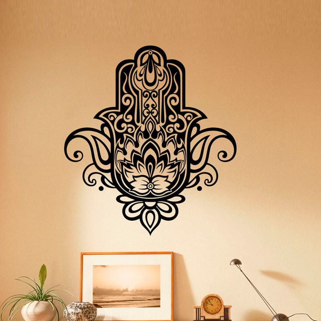 Wall Stickers Hamsa Hand Removable Vinyl Wall Decal Sticker Home Decor