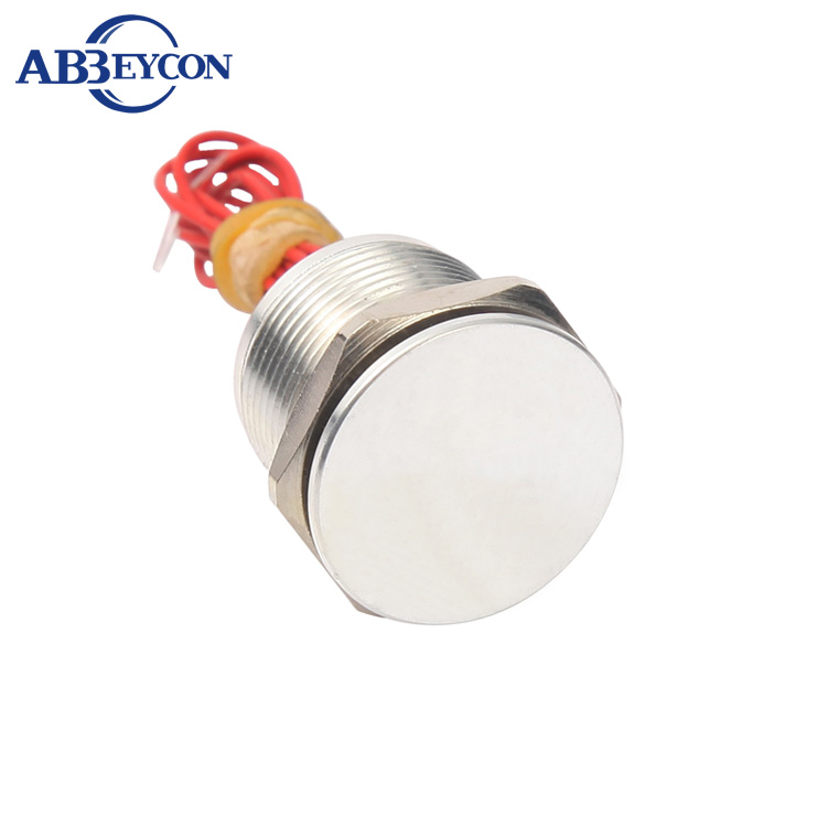 цена на Abbeycon Stainless Latching Normally Open Wholesale 12V 24V NO IP68 16mm Flat Head Prewired Waterproof Push Button Piezo Switch