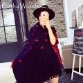 Xales e Lenços Para As Mulheres 2016 Da Marca de Moda Quente Grosso Cachecol de Caxemira Dupla Face Avião Cobertor Impresso Belos Lenços