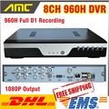 New 8ch 960 h DVR H.264 gravador de 8 canais Full D1 DVR CCTV 8 CH HDMI 1080 P rede celular sistema de segurança DVR