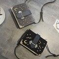 New Style famosa marca Retro Minimalista Saco Crossbody Das Mulheres Pequeno Ombro Saco Saco Do Mensageiro Das Mulheres da verificação do diamante de couro Nobuck