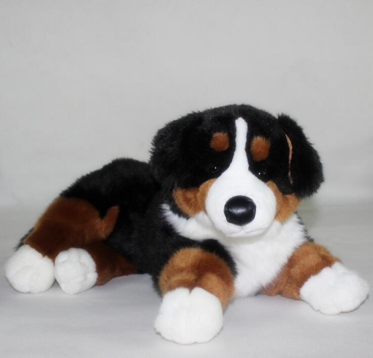 Stuffed Animal Big Toy Cute  Plush Bernese Mountain Dog Doll Toys for Children Gift Pillow cute labrador big plush toy lying dog doll search and rescue stuffed toys children birthday gift pillow