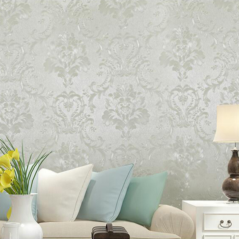 PVC Wallpaper Modern Flowers Wall Sticker Living Room Bedroom Romantic Home Decor Self-Adhesive Waterproof Wall Paper For Walls modern silk pattern self adhesive wallpaper waterproof vinyl pvc wall stickers for kitchen living room bedroom home decoration