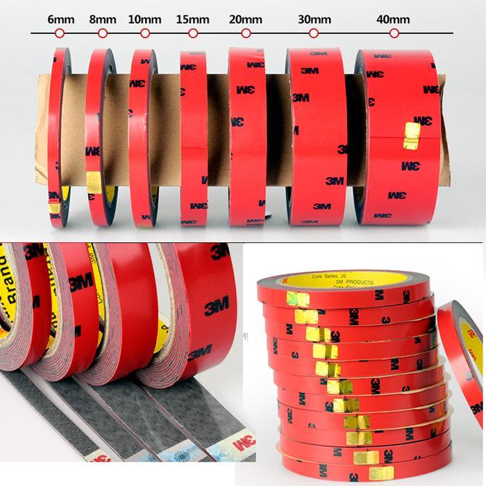 Pcs x 3 1 M força adesiva dupla-face não-traço ultra-fina fita de espuma para cola vara adesiva