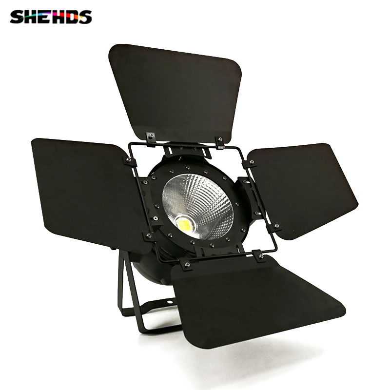 Aluminum alloy LED Par C0B 100W  RGBW 4IN1 Lighting with Barn Doors led spotlight party lights Dmx controll For DJ Home stage t 8 lot 100w rgbw 4 in 1 cw ww cob par 64 led stage studio par light with barn doors