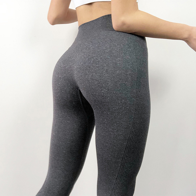Kaminsky Women s Fashion Seamless Leggings Ladies Athleisure Sportswear Sweat Pants Trousers High Waist Solid Fitness.jpg 640x640 - Athleisure Seamless High-Waist Solid-Color Sweatpant Leggings