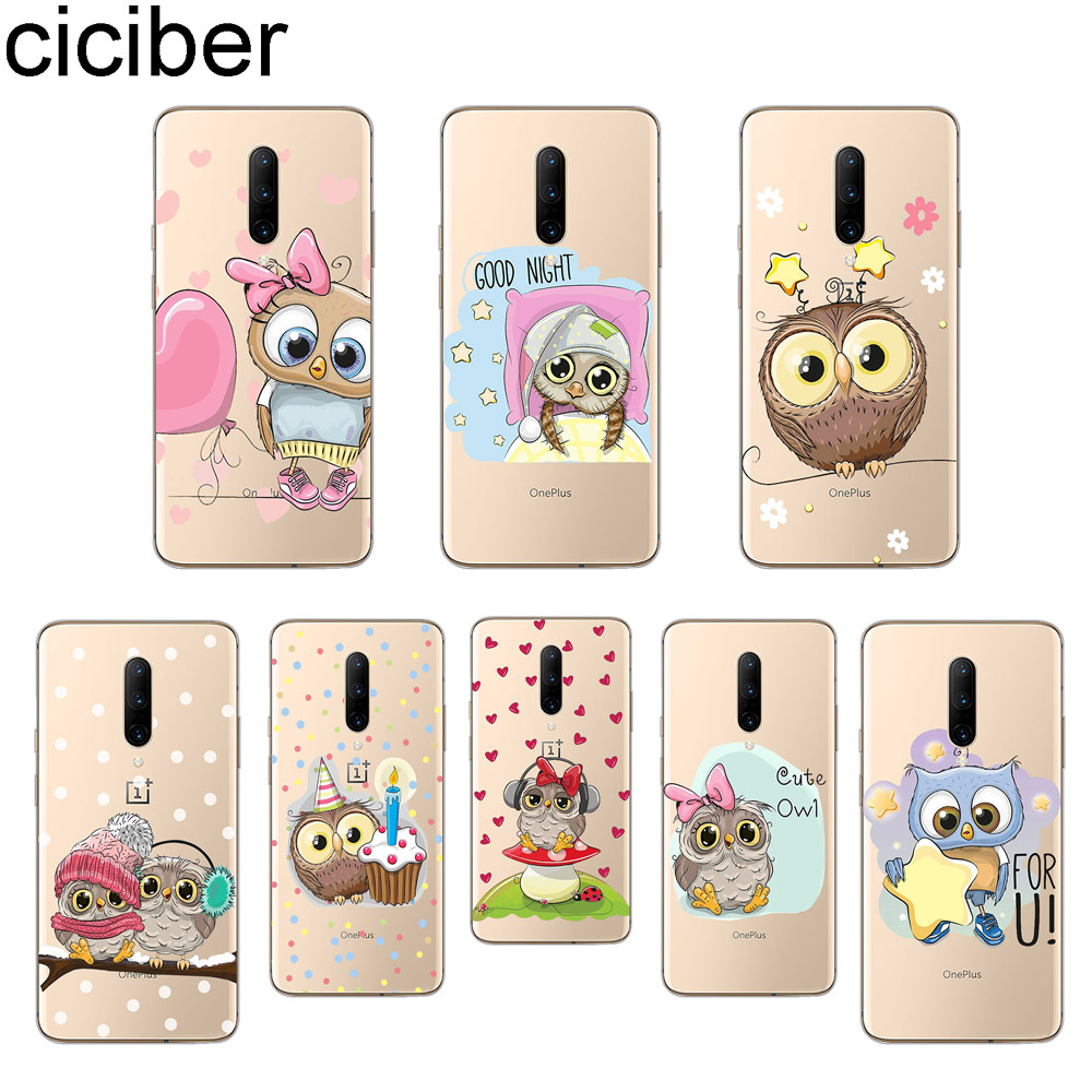 ciciber Lovely Owl Phone Cases For font b Oneplus b font font b 7 b font