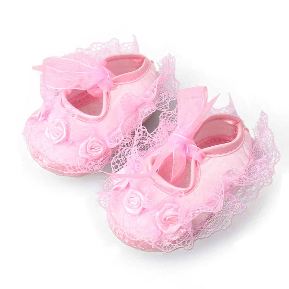 2017 Hot Summer Spring Cute Lace Newborn Baby Lace Welt Flower Sole Boots For Kids Cute Toddler Shoes For Baby Girl YH-17