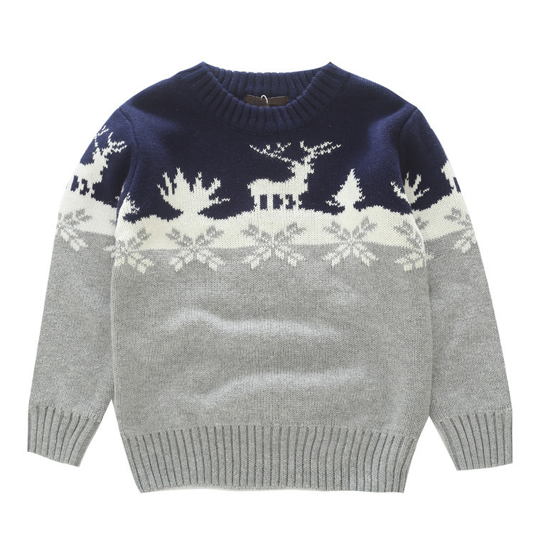 Baby Boys Sweaters Knitting Pattern Casual Boys Pullovers Spring Autumn Winter Kids Boys Clothing for Thick Christmas Deer Snow christmas snowfield deer pattern indoor outdoor area rug