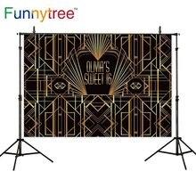 Funnytree خلفية ذهبية غاتسبي العظيم الحلو 16 تخصيص الزينة خلفية الصورة لحفلة عيد ميلاد خلفية photophone