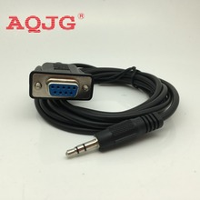 RS232 DB9 9 PIN FEMALE TO 3.5MM  9 PIN RS232 DB9 FEMALE TO 3.5MM 3P MALE JACK ADAPTER SE  1.8M