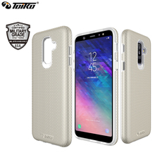 TOIKO X Guard Dual Layer Shockproof Phone Cases for Samsung Galaxy A6 Plus 2018 PC TPU Bumper Protection Rugged Armor Back Cover