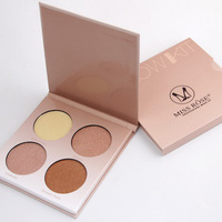 Miss Rose Brand Makeup Golden Shade Contour Glow Kit 4 Colors Brighten Bronzer And Highlighter Shimmer