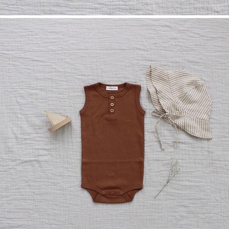 Nueva de moda ropa de bebé niños y niñas ropa de verano ropa de niños de  primavera monos-piezas sin mangas 0-2 años, los niños chico de