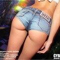 2016 NUEVA Sexy Bikini Bottom Jeans Vintage Pantalones Cortos Botín Cintura Baja Denim Caliente Pantalones Cortos Discotecas Discoteca denim jeans #20