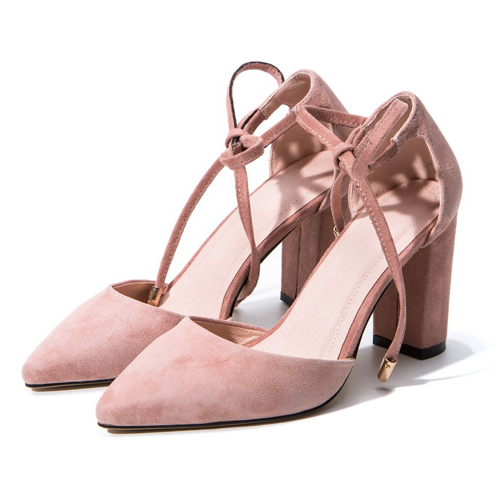 2017 fashion new brand shoes high heels casual pointed toe cow suede solid women pumps bowtie party office lady summer shoes 2-6 2017 new fashion brand spring shoes large size crystal pointed toe kid suede thick heel women pumps party sweet office lady shoe