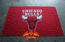 Chicago Bulls Flag 3×5 FT 150X90CM Banner 100D Polyester NBA flag