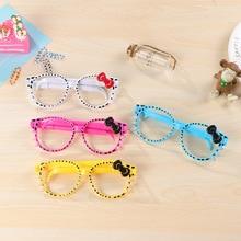 75ba081577 PHANTACI 4 pcs lot Frame Creative Cartoon Glasses Ballpoint Pens Cute Kittens  Gifts