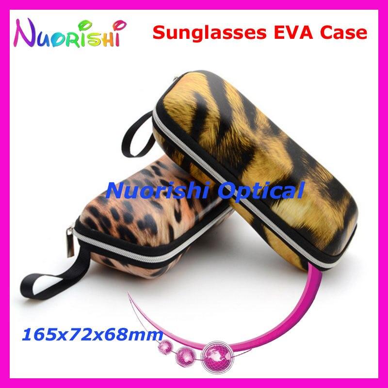 20pcs Fashion Tiger Leopard Painting Eyeglass Sunglass Glasses Sunglasses Zipper 2 Colors EVA Hard Case Box