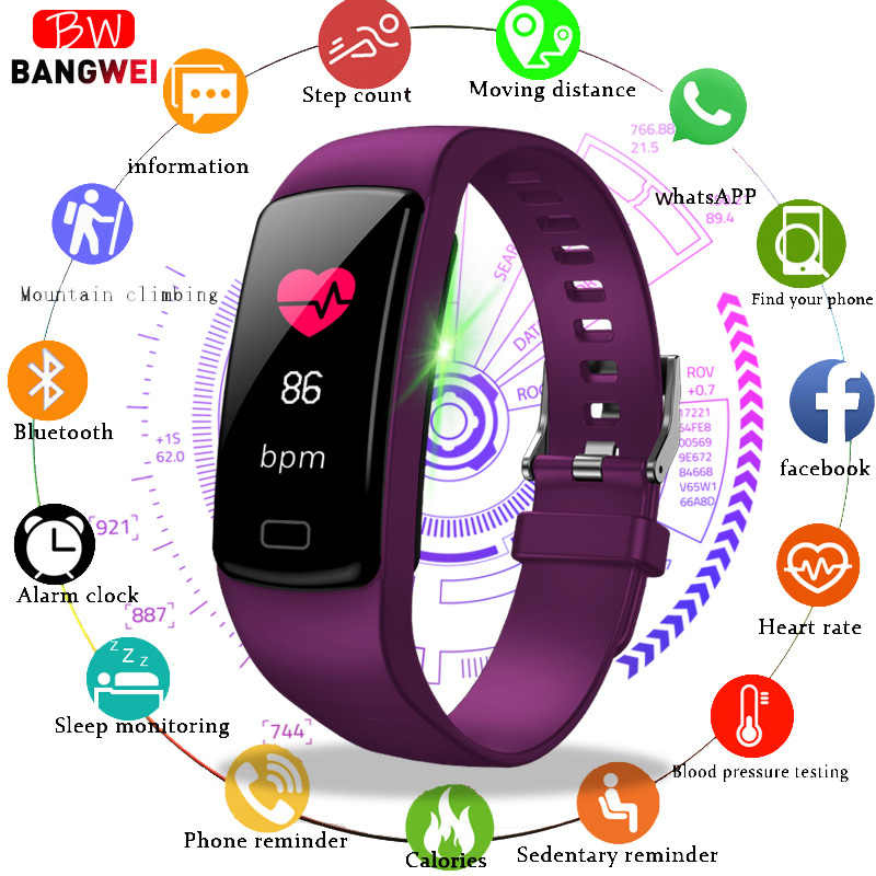 LIGE Sport Bracelet Women Men  Heart Rate Blood Pressure Wristband Calories Pedometer fitness smart Watch for Android IOS Phone