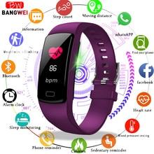 BANGWEI спортивные часы Для женщин Для мужчин сердечного ритма крови наручные часы с измерителем давления Калорий, Шагомер Смарт-часы для фитнеса Для Android IOS Телефон