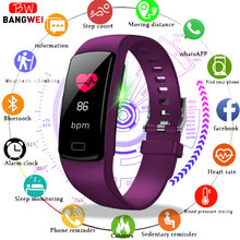 BANGWEI Sport watch Women Men Heart Rate blood pressure watches Calories Pedometer fitness smart Watch for Android IOS Phone(China)