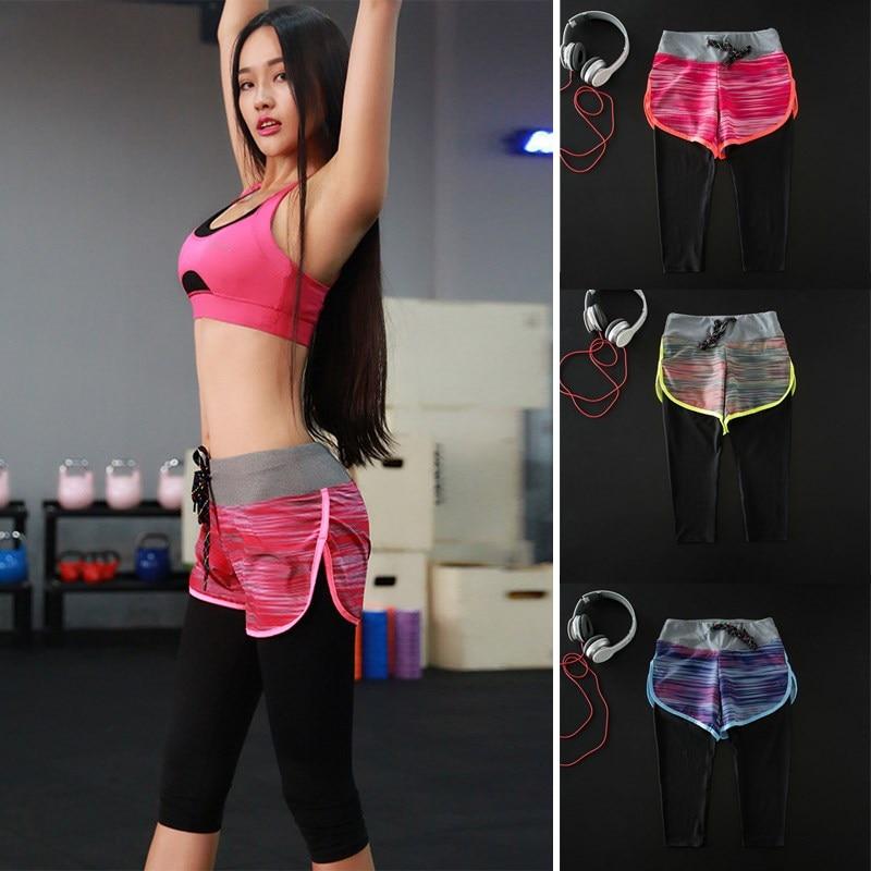 Smiling Eyes Store 2017 Women Bodycon Slim Leggings Skinny Keep Fit Quick-drying Capris Pants Female Trousers