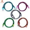 Venda quente 1 m/2 m micro usb cabo de dados do telefone da pele de cobra tecer fio do carregador do cabo de nylon cabo usb para iphone samsung htc xiaomi