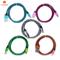 Venta caliente 1 m/2 m micro usb cable de datos del teléfono de la piel de serpiente de la armadura cargador de cable de alambre de nylon cable usb para iphone samsung htc xiaomi