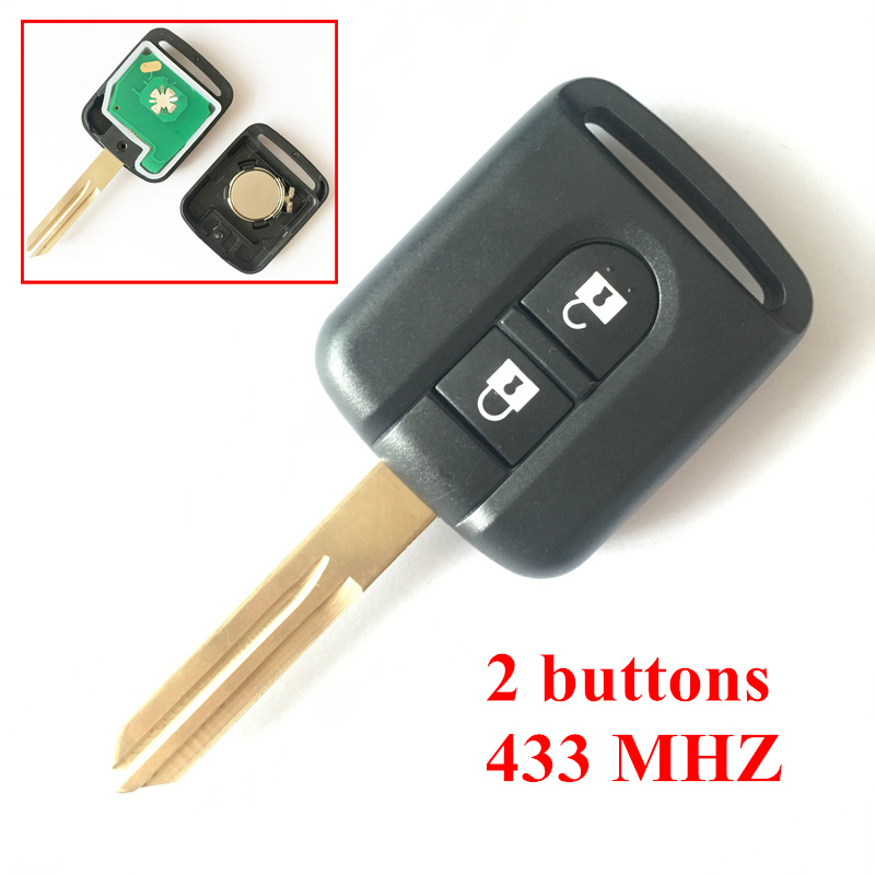 2 Buttons Remote Key 433 MHZ For Nissan Elgrand X TRAIL NAVARA MICRA PRIMERA Remote Key