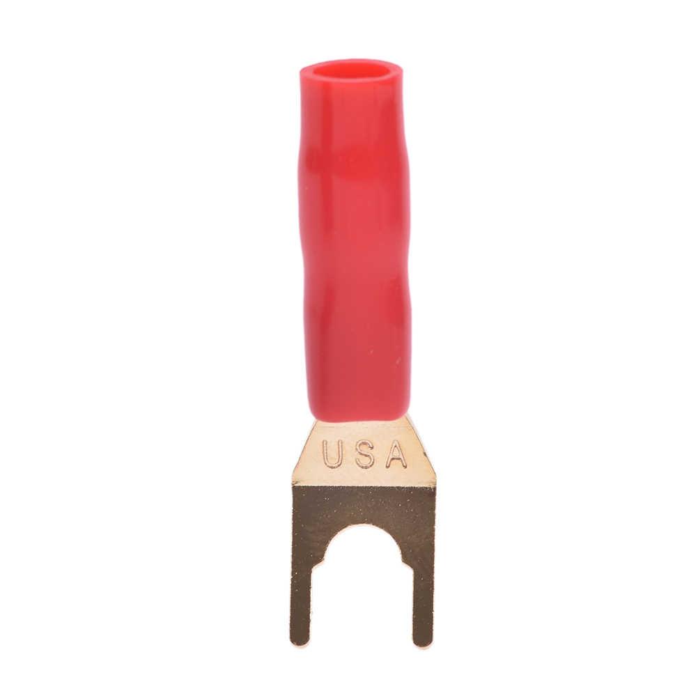 2 pièces/lot laiton haut-parleur câble plaqué or fourche banane Y bêche fiche soudeur haut-parleur câble connecteur UH3 outil
