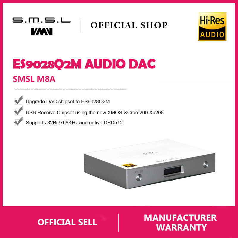 New SMSL M8A Native DSD512 HIFI Decoder Support DOP DAC ES9038 PCM768kHz  Micro USB Amplifier Optical Coaxial Input RCA Output -in Digital-to-Analog Converter from Consumer Electronics