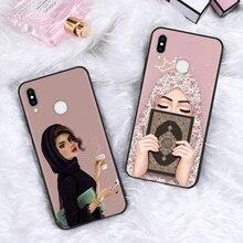 Musulmano Islamico Gril Occhi Arabo Hijab Ragazza Per Il Caso di Huawei P di Smart 2019 P30 P20 Compagno di 20 10 Lite Pro p9 P8 P10 Lite 2017 Del Silicone