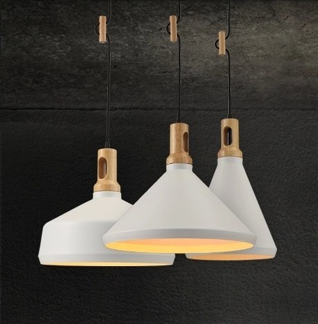 Modern Lamps Pendant Lights Wood And Aluminum Lamp Black White Restaurant Bar Coffee Dining Room