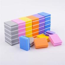 5 Pcs Double-Sided Small Nail File Blocks Colorful Sponge Nail Polish Sanding Buffers Grinding Polishing Manicure Nail Art Tool цены
