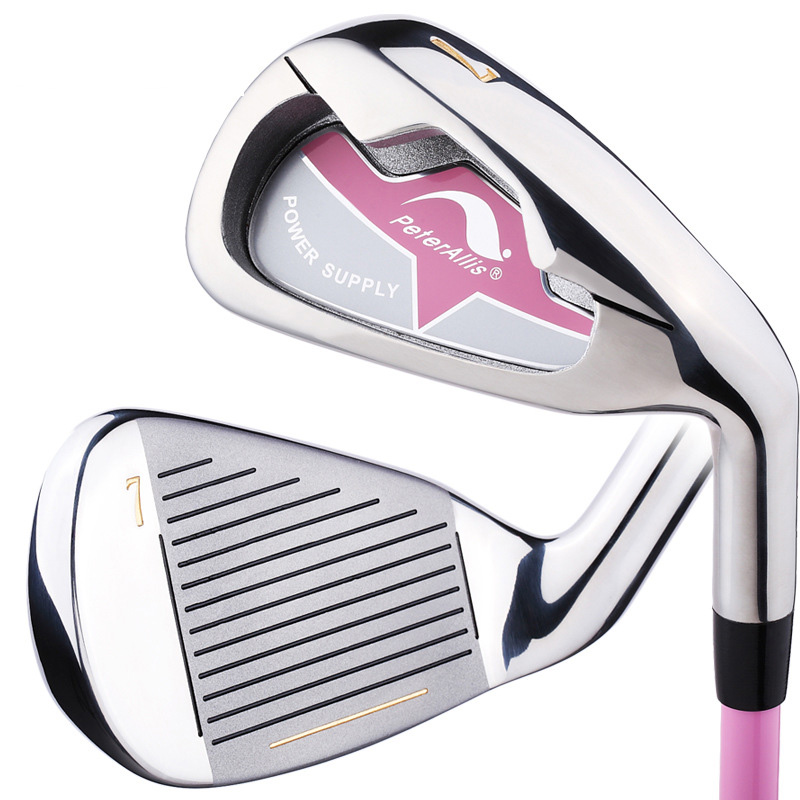 New Women #7 Practice Clubs Real Golf Clubs With Graphite Club Shaft High Quality Golf Silver
