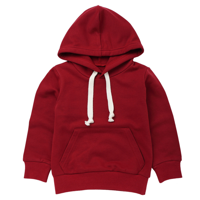 fashion baby hooded solid color sweater Toddler Baby Kids Boys Girls Sweatshirt Tops Clothes Casual sweaters