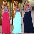 2016 Novas Mulheres Vestido Estampado Verão Plus Size Do Vintage Outono Vestidos Longos Maxi Boêmio Até O Chão Vestido Vestidos De Fiesta