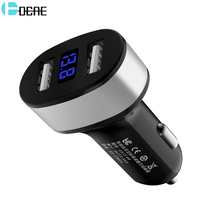 DCAE Dual USB Автомобильное зарядное устройство для iPhone XS Max XR X 8 samsung S9 зарядное устройство для мобильного телефона 5 в 2,4 А быстрое зарядное устройство ing автомобильное зарядное устройство адаптер