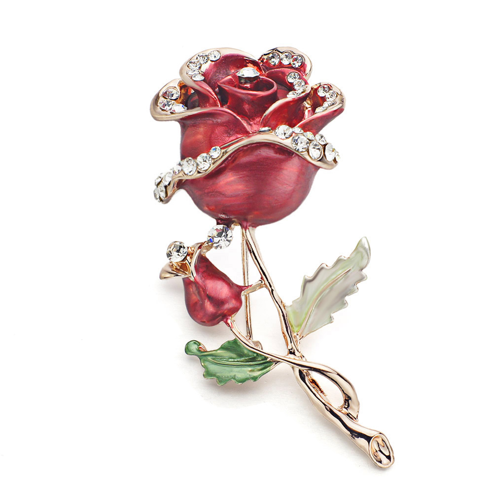 DORMON Pretty Elegant Flowers Brooch Pin Crystal Scarf Scare - Նորաձև զարդեր - Լուսանկար 2