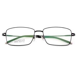 Image 2 - Gmei Optical Ultraleicht 100% Reinem Titan Vollrand Brille Rahmen Für Business Männer Myopie Lesen Rezept Brille LR8980