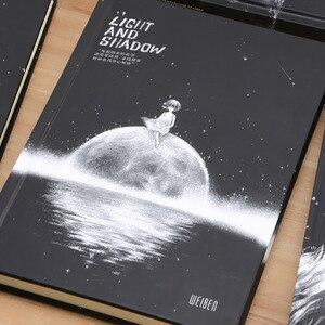 Image 3 - 달의 단계 우주 행성 카와이 소녀 하드 커버 노트 귀여운 일기 책 개인 저널 메모장 의제 어린이 문구